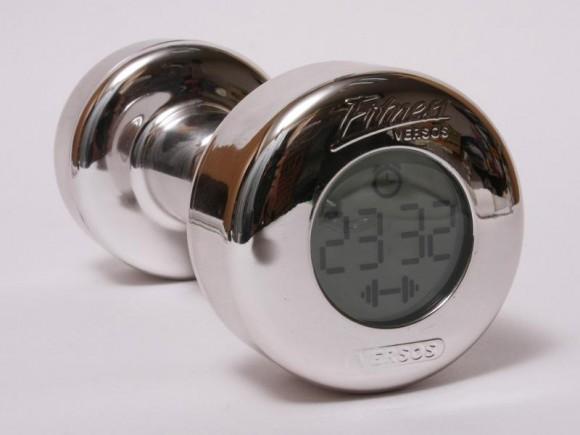 ダンベル型目覚まし時計