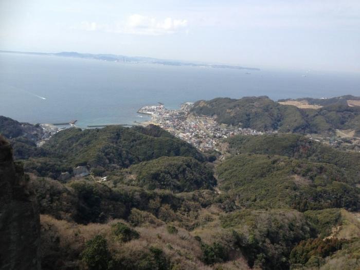 鋸山頂上から風景
