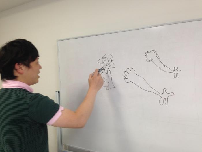 松原さんが描くルフィー