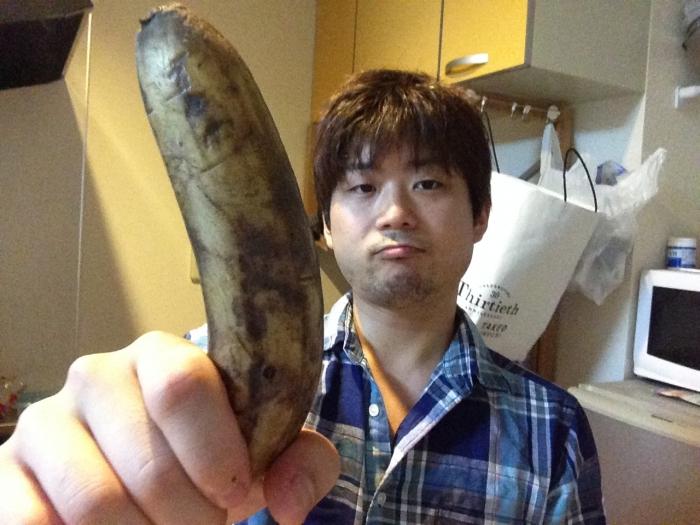 黒くなったバナナ