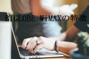 BIGLOBE WiMAXの特徴