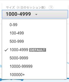 グーグルアナリティクス ベンチマーク サイズ