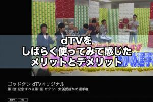 dTVをしばらく使ってみて感じたメリットとデメリット