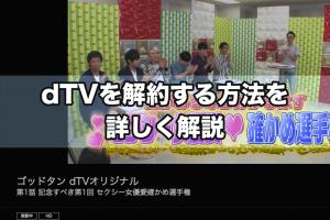 dTVを解約する方法を詳しく解説