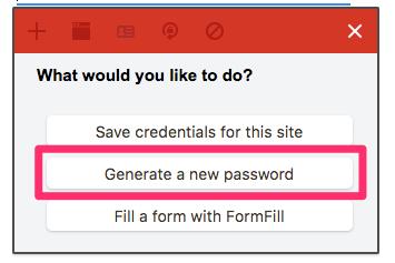 「Generate a new password」をクリック