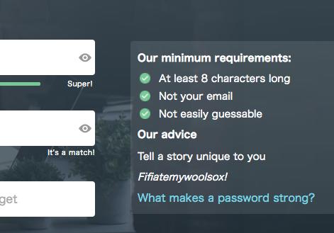 安全なパスワード