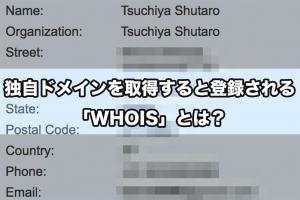 独自ドメインを取得すると登録される「WHOIS」とは?
