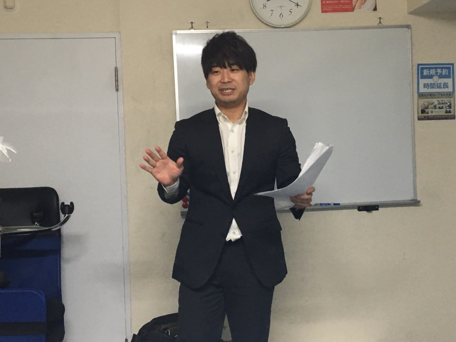 周太郎氏が話始める