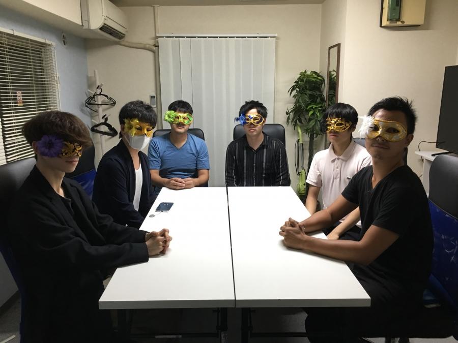 男6人が新宿のクソ狭く、汚い会議室に集結。