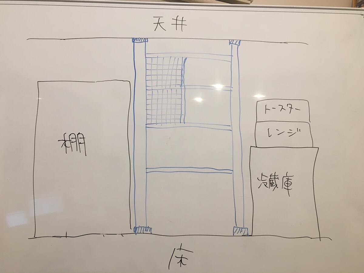 DIY棚完成イメージ