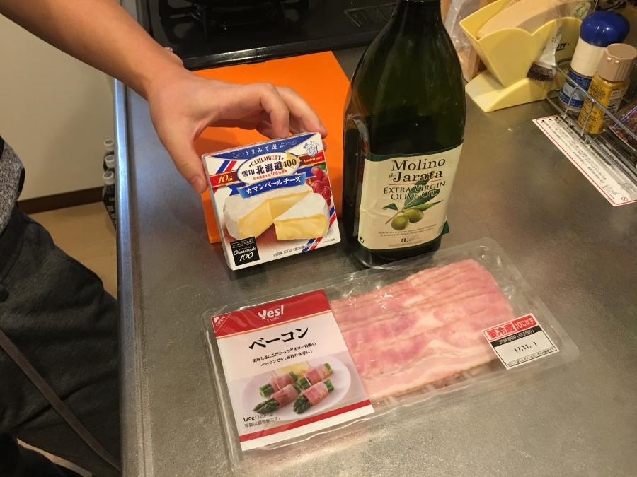 カマンベールチーズとベーコン