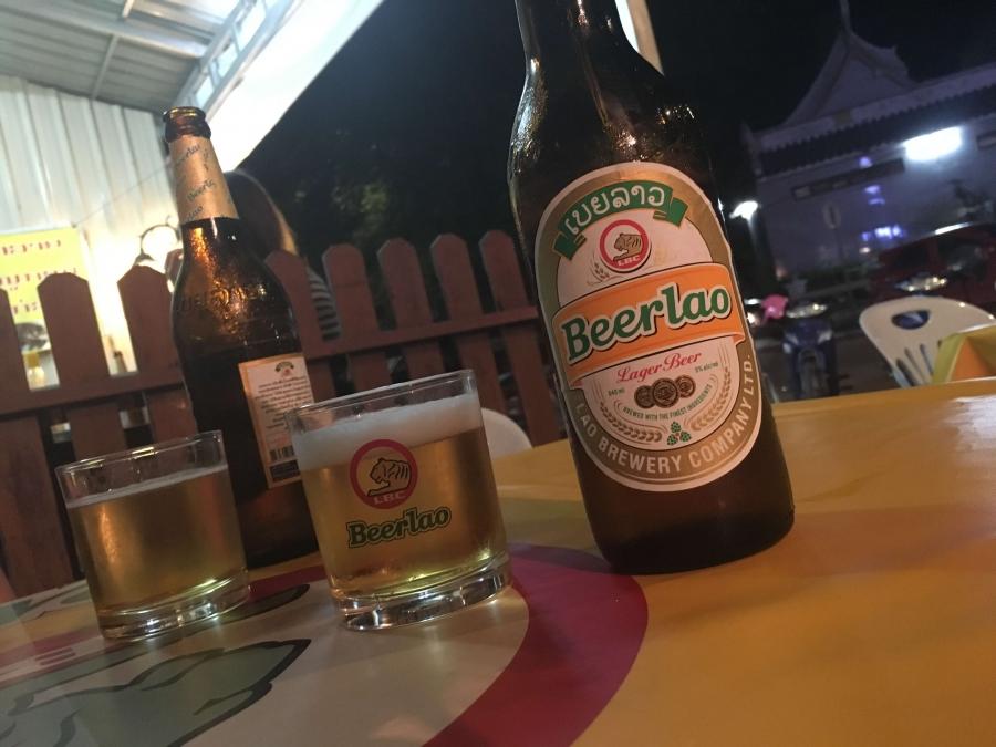 ラオスのビールはめっちゃ安い