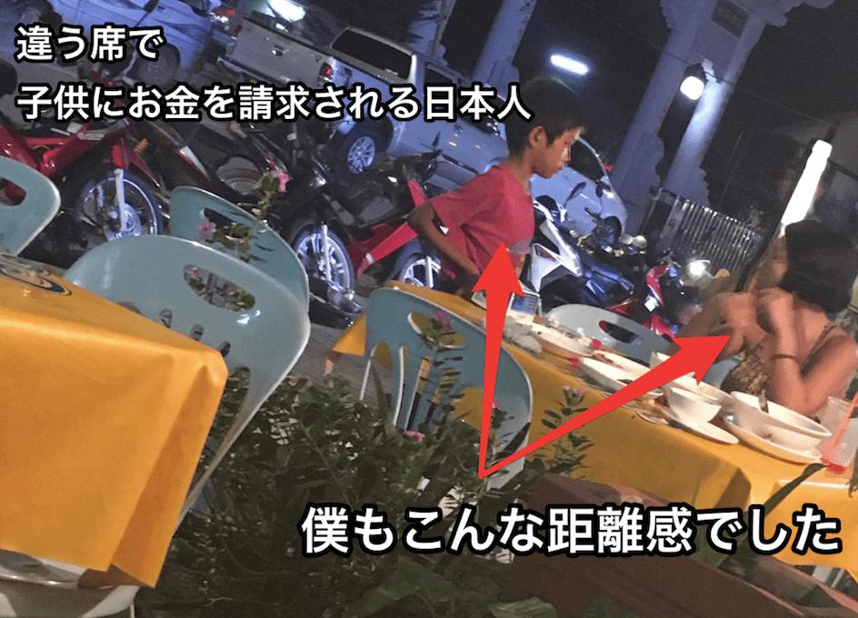 日本人にお金をせびる子供