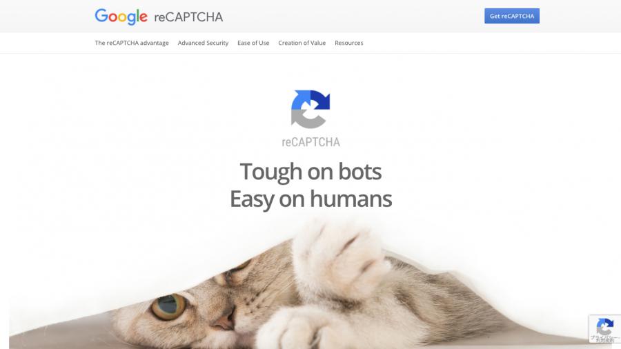 Google reCAPTCHAのサイト