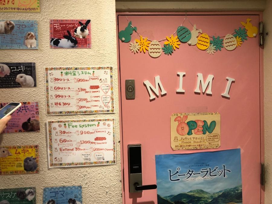 うさぎカフェMIMI 扉
