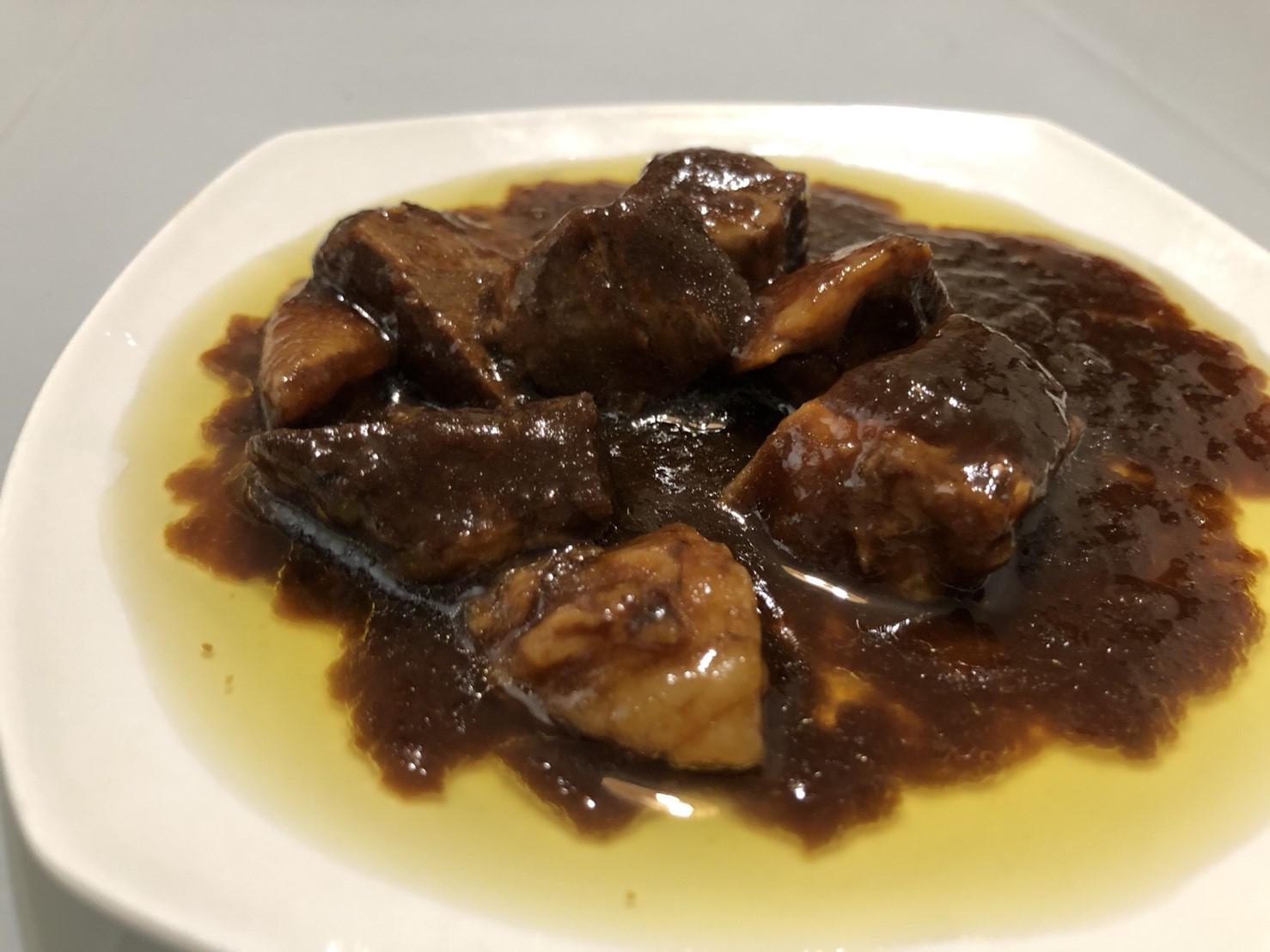 缶つまレストラン 牛肉の赤ワイン煮 接写