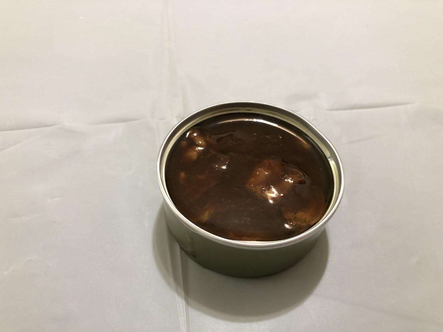缶つまレストラン 牛肉の赤ワイン煮 開封